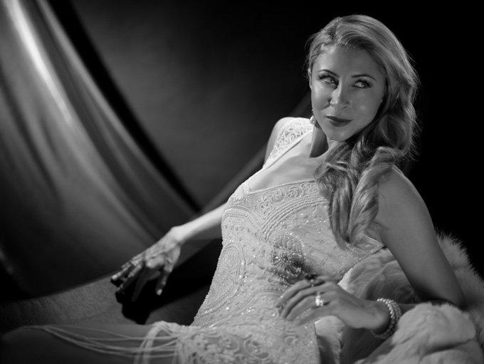 Black and white film photo shoot