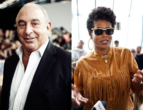 Sir Philip Green & Kelis at Fashion Show (c) Headshot London