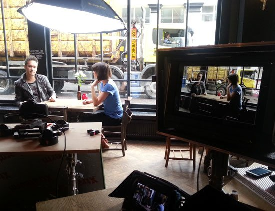 Channel 4 filming - David Locke interview
