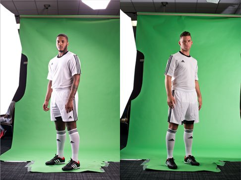 Green Screen Photography & Photo Retouching for Football Company