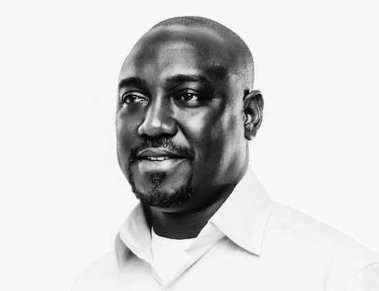 black and white portrait of African politician by HeadshotLondon
