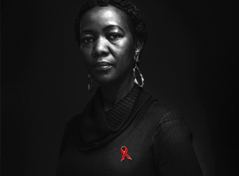 Black and White portrait photographed for World Aids Day 2015