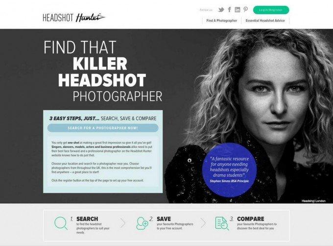 killer black and white headshot by David Locke at Headshot London