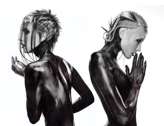 headshot london british hairdressing awards winners black and white beauty